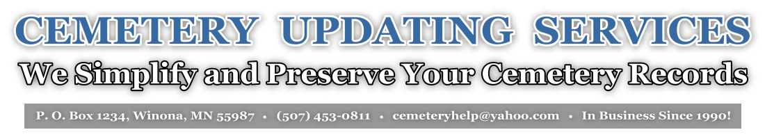 Cemetery Update Services